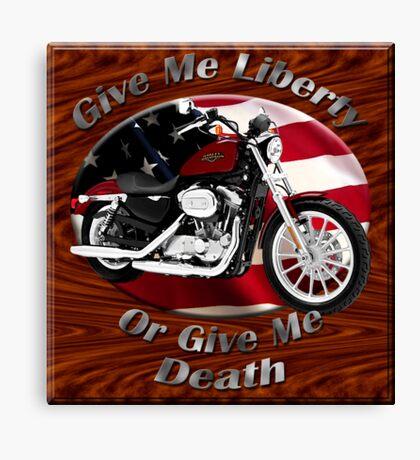 Harley Davidson Sportster Give Me Liberty Canvas Print
