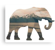 Elephant and Homer Spit Canvas Print