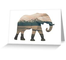 Elephant and Homer Spit Greeting Card