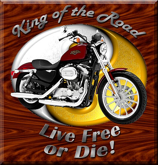 Harley Davidson Sportster King Of The Road by hotcarshirts