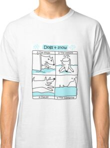 Dogs & snow ... a love story ! / Dog Doodles Classic T-Shirt