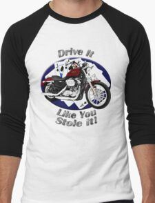 Harley Davidson Sportster Drive It Like You Stole It Men's Baseball ¾ T-Shirt
