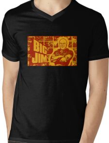 BIG JIM Mens V-Neck T-Shirt