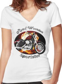 Harley Davidson Sportster Road Warrior Women's Fitted V-Neck T-Shirt