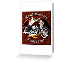 Harley Davidson Sportster Road Warrior Greeting Card
