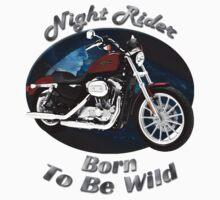 Harley Davidson Sportster Night Rider by hotcarshirts