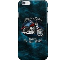 Harley Davidson Sportster Night Rider iPhone Case/Skin
