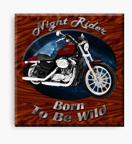 Harley Davidson Sportster Night Rider Canvas Print