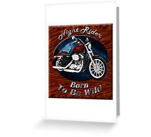 Harley Davidson Sportster Night Rider Greeting Card