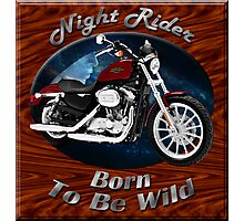 Harley Davidson Sportster Night Rider Photographic Print