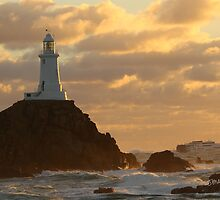 Condor Vitesse passing La Corbiere Lighthouse by Jonathan Cox