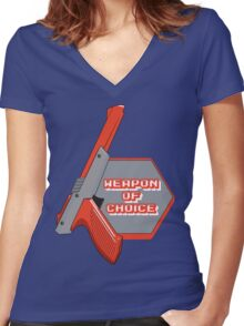 Weapon of Choice (Re-make) Women's Fitted V-Neck T-Shirt