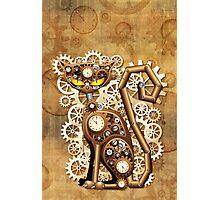 Steampunk Cat Vintage Style Photographic Print