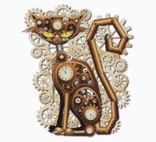 Steampunk Cat Vintage Style Kids Clothes
