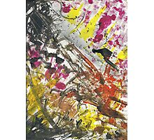 Clash Abstract Finger Painting  Photographic Print