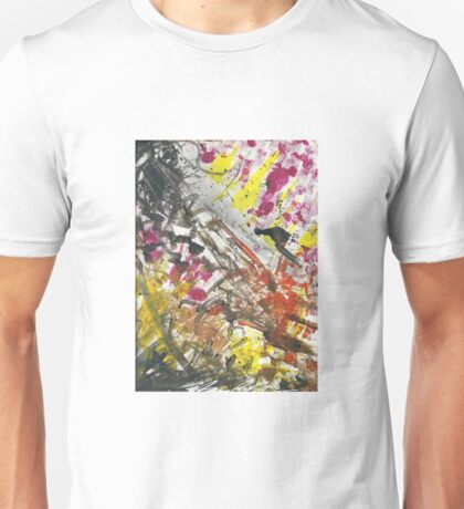 Clash Abstract Finger Painting  Unisex T-Shirt