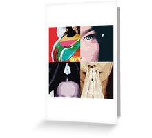 Bjork Pop Art Greeting Card