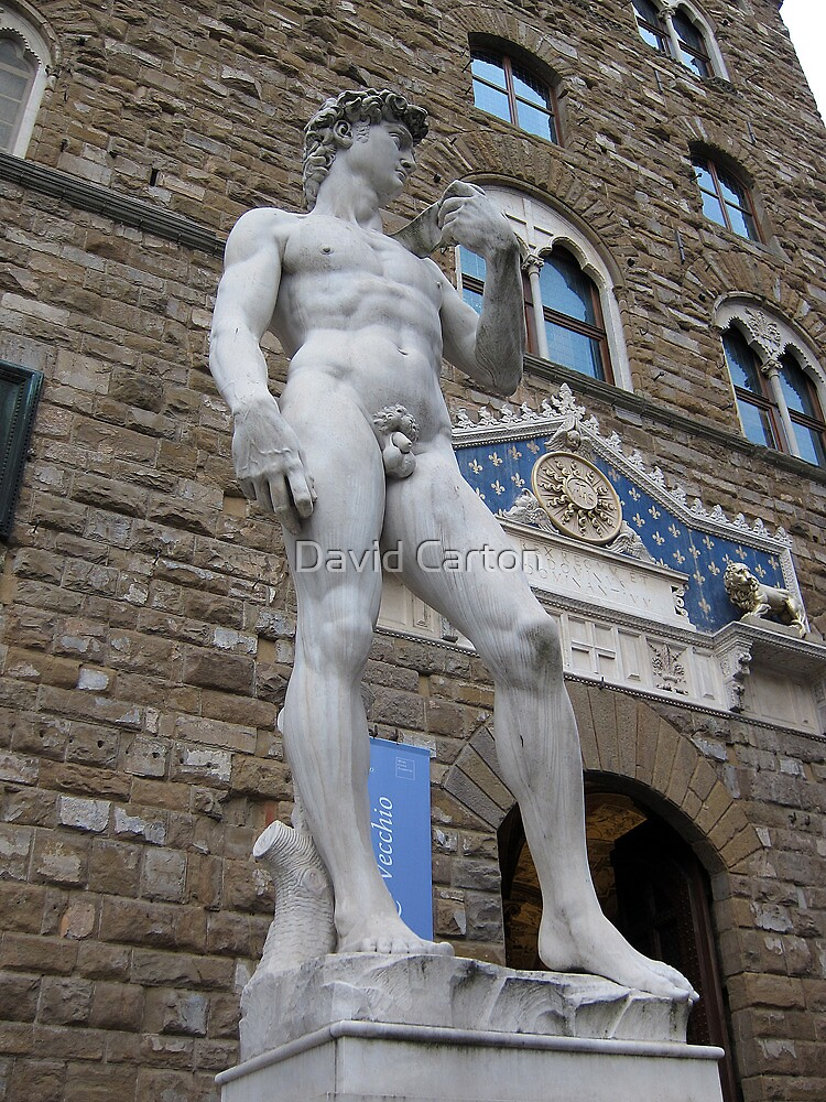 Statue of David Copy, outside the Uffizi, Florence by buttonpresser