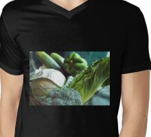 Green Grocery Bag Mens V-Neck T-Shirt