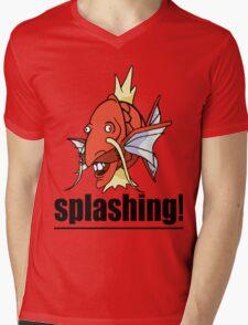 SPLASHING! Mens V-Neck T-Shirt