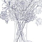 Flowers in a Crystal Vase by Christine Chase Cooper