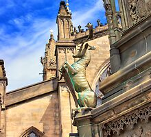 Rampant Stag on the 5th Duke of Buccleuch, Edinburgh's Royal Mile by Miles Gray