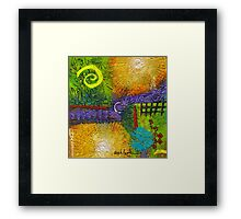 Sun Shines in Your Yard and Mine Framed Print