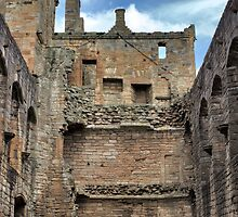 The Great Hall Looking North, Linlithgow Palace. Scotland by Miles Gray