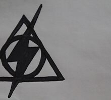 Harry Potter Scar and Deathly Hallows Combination by Amber Batten