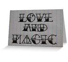 Love and Magic Greeting Card