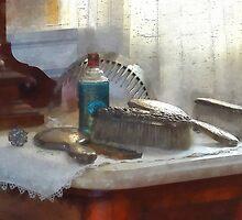 Elegant Silver Hair Brush Set by Susan Savad