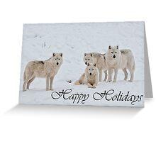 Arctic Wolf Holidays Card 2 Greeting Card