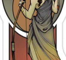 Hunger Games - Katniss - Art Nouveau Sticker