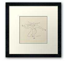 fighter girl Framed Print