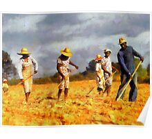 Chopping Cotton Poster