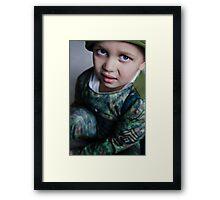 Lil Soldier Framed Print
