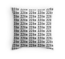 221B - Sherlock Throw Pillow