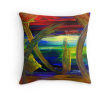 Sailing in Calmness Over A Troubled Sea Throw Pillow