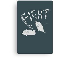 Pillow Fight Canvas Print