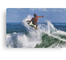 Surfing At Ponce Canvas Print