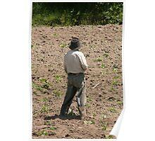 Farmer in a Field Poster