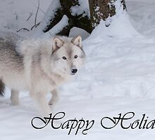 Timber Wolf Holiday Card 1 by WolvesOnly