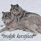 Timber Wolf Christmas Card Dutch 2 by WolvesOnly