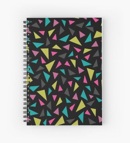 Geometric Rainfall in Black Spiral Notebook