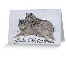 Timber Wolf Christmas Card German 2 Greeting Card