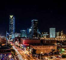 Downtown Oklahoma City at Night by Axiz
