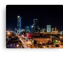 Downtown Oklahoma City at Night Canvas Print