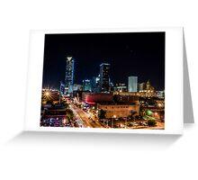 Downtown Oklahoma City at Night Greeting Card