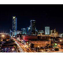 Downtown Oklahoma City at Night Photographic Print