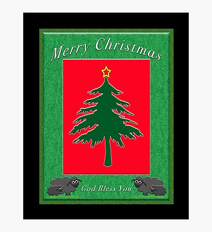 Merry Christmas God Bless You Photographic Print